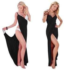 Other - Black Greek Goddess Cover Up Sarong Beach Dress